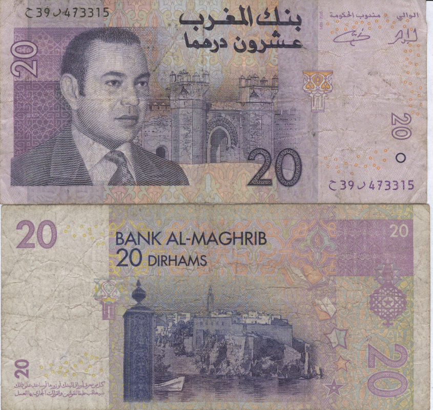 Like The Uae Currency In Morocco Is Dirham It S Worth Half Of At 7 75 Per Dollar Or 3 66